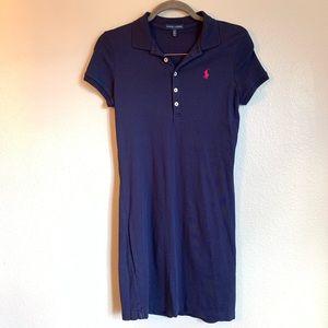 Ralph Lauren Blue and Pink Polo Short Sleeve Dress
